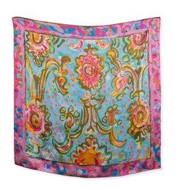 Amanda Johnson Studio Silk Scarf, Utopia