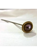 Hat Pin with Amethyst