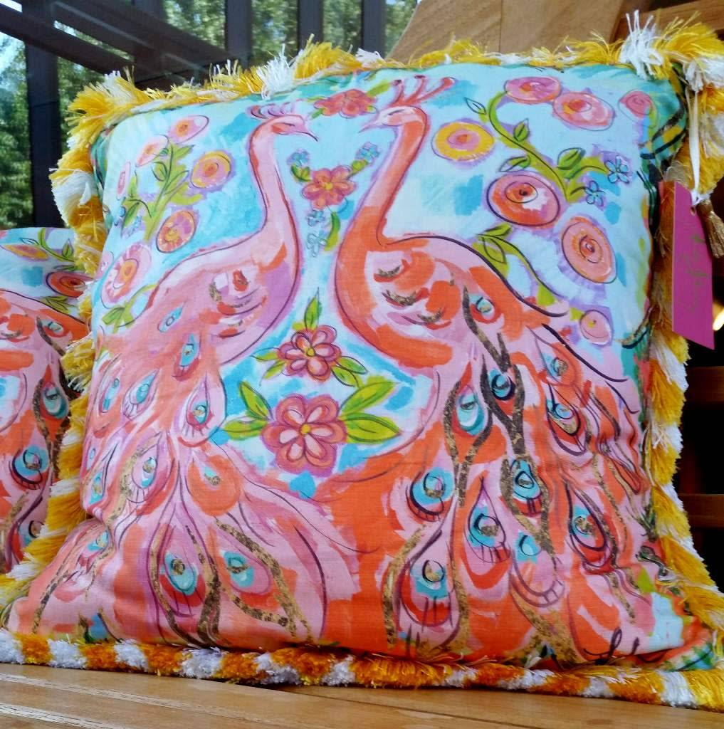 Amanda Johnson Studio Throw Pillow, Love Birds
