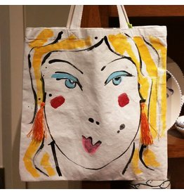 Amanda Johnson Studio Girl Gang Tote Bag, Blonde