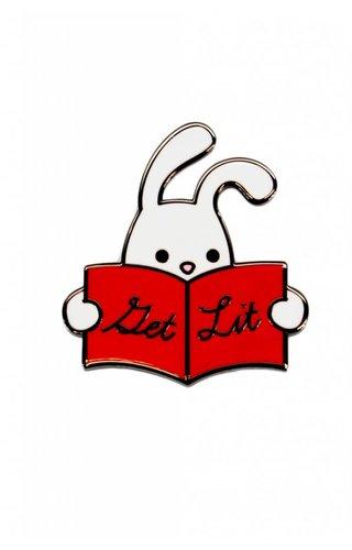 Reading Rabbit Pin