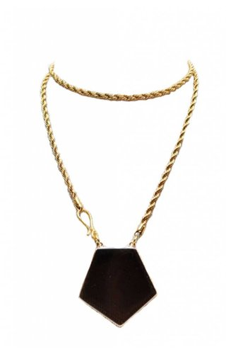 Ewelina Pas Alcyone Gold Brass Agate Necklace