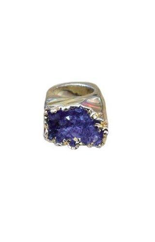 Ewelina Pas Amethyst Quartz Ring