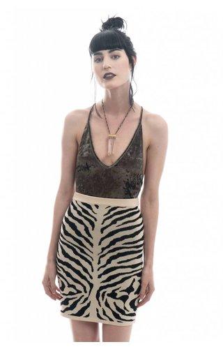 Ark & Co Animal Print Mini Skirt