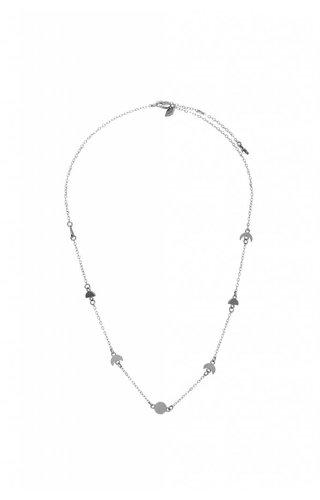 Moorla Seal Ara Moon Phase Choker Silver