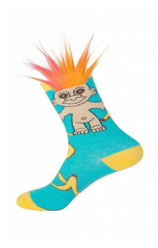 Banana Split Troll Socks