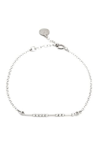 CA Souls BFF Morse Code Bracelet in Silver