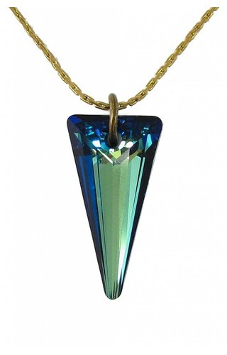Blue Crystal Spike Necklace