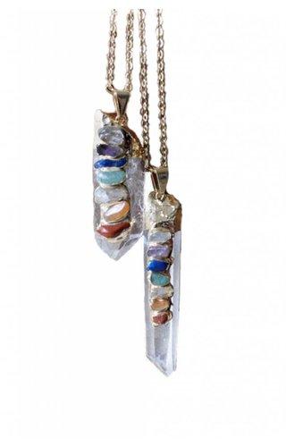 Ewelina Pas Chakra Quartz Necklace