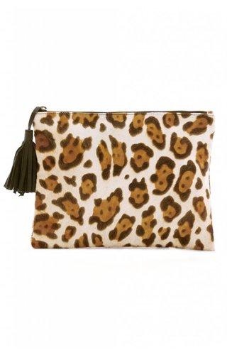 LIN Cheetah Calf Clutch