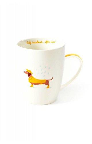 Two's Company Dachshund Mug