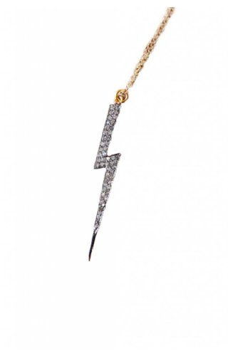 Ewelina Pas Diamond Lightning Bolt Necklace