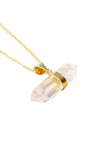 Ewelina Pas Double Pointed Quartz Necklace