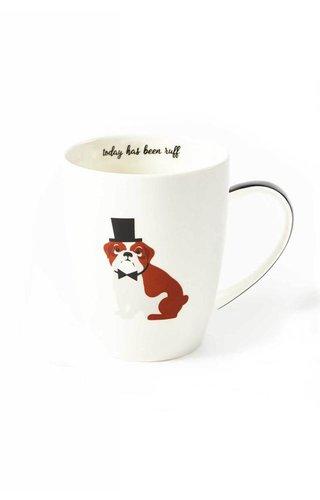 Two's Company English Bulldog Mug