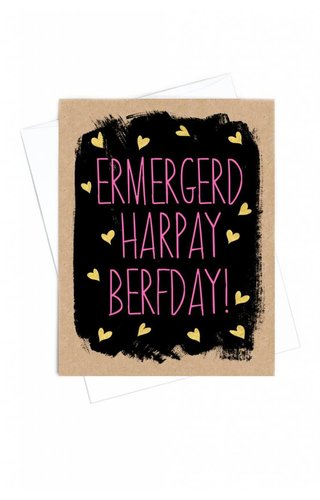 Band Of Weirdos Ermergerd HBD Card
