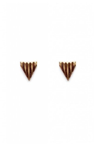 Michelle Starbuck Designs Faceted Triangle Studs