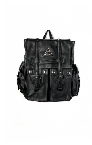 Disturbia Faux Leather All-Seeing Backpack