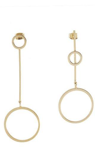 Full Circle & Bar Earrings