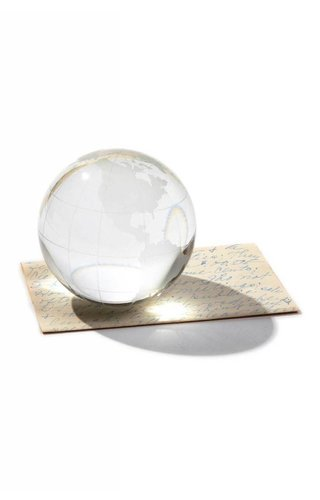 Two's Company Globe Paperweight