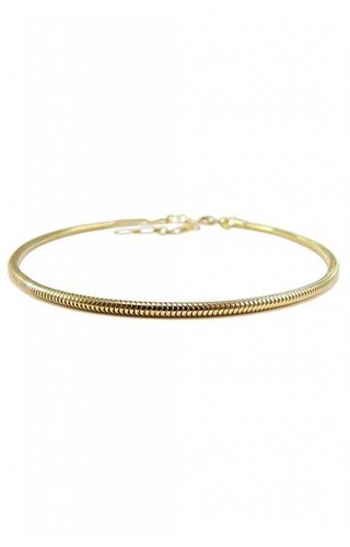 Gold Snake Chain Choker