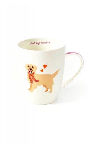 Two's Company Golden Retriever Mug