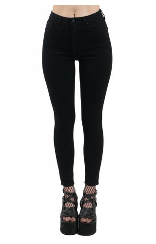 Just Black High Waisted Basic Black Skinny Jeans