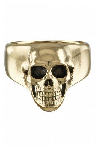 Lost Apostle Human Skull Ring Bronze