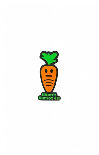 MissHappyPink I Don't Carrot All Pin