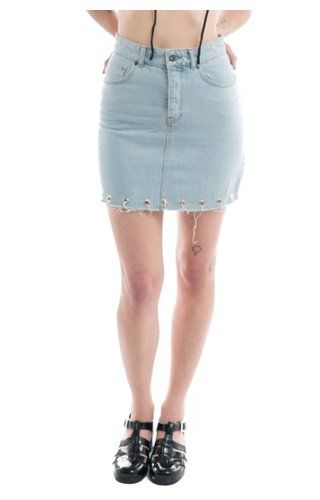 The Ragged Priest Knuckle Denim Skirt