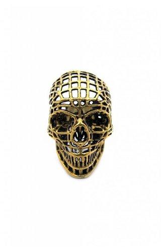 Han Cholo Mesh Skull Ring