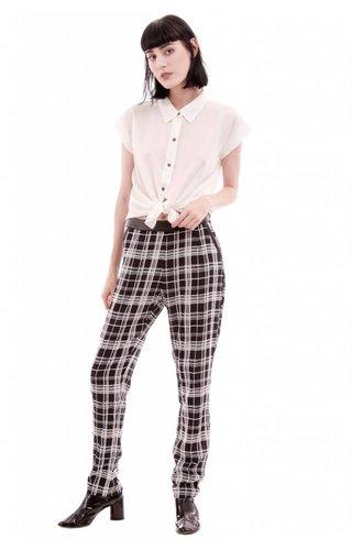 Monochromatic Plaid Pants