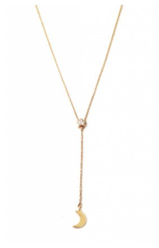 Moon Star Lariat Necklace