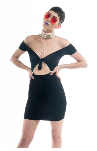 Motel Motel Ozel Cutout Dress
