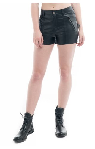 Moto Faux Leather Shorts