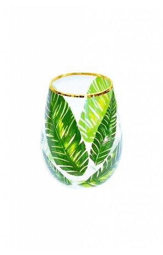 Palm Stemless Glass