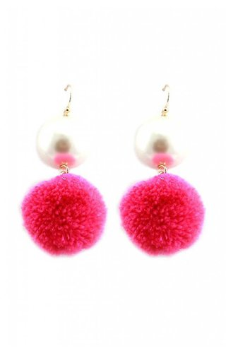 Pearly Puff Gurl Earrings