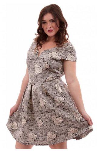 Soieblu Peony Brocade Dress