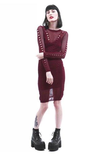 Pointelle Sweater Dress