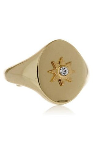 LUV AJ Revel Starburst Ring