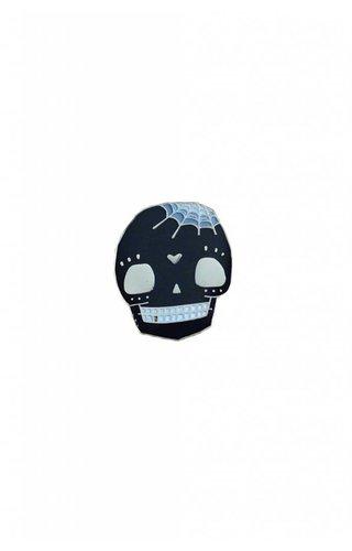 Crywolf Spidey Skull Pin