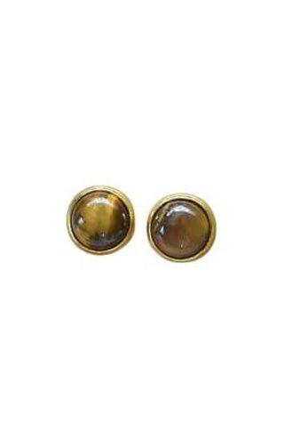 Ewelina Pas Tigers Eye Stud Earrings