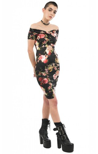 Twisted Roses Dress