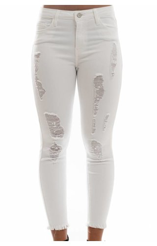 Just USA Jeans White Destroyed Skinny