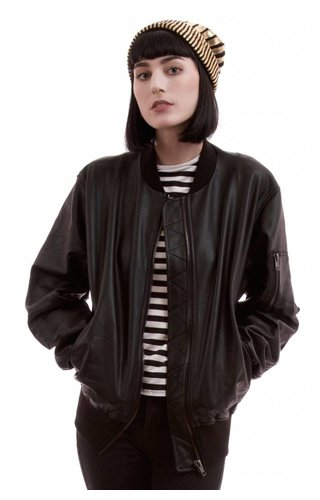 House of Widow Widow Restless Ruins Bomber Jacket