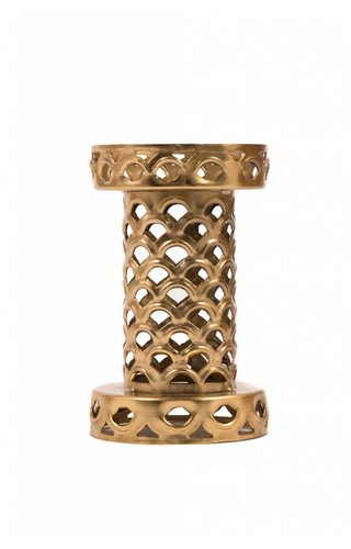 Gold Geo Candle Holder