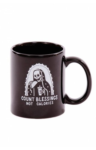 Pyknic Count Blessings Not Calories Mug