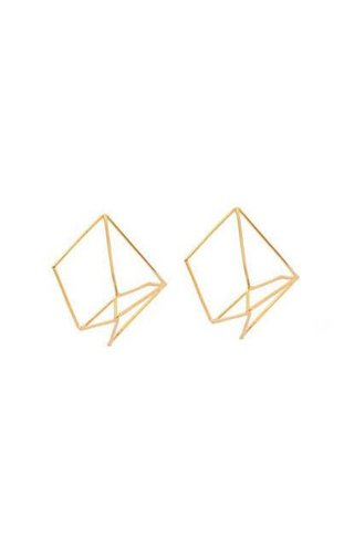 Nina Berenato Matrix Earring Yellow Gold