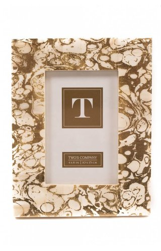 Two's Company Marbleized Gold Frame