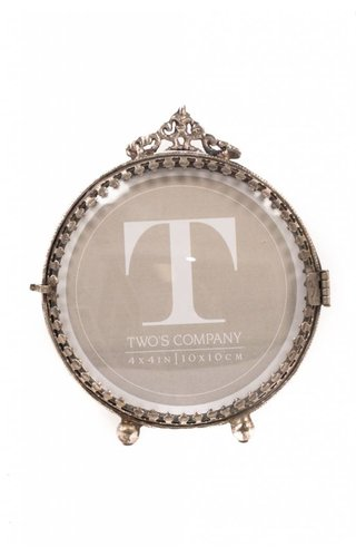Two's Company Antiqued Shadow Frame