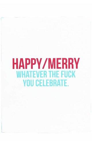 Happy/Merry Card Set